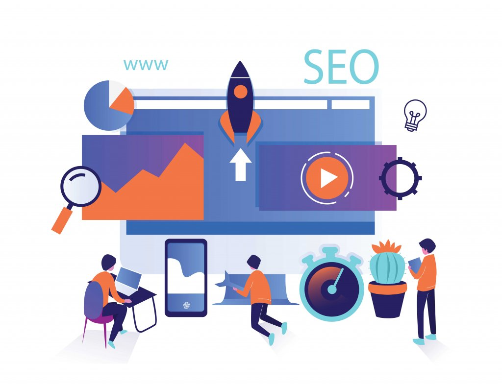 Isometric-Design-of-the-word-SEO-and-laptops-and-phones-that-are-around-Search-Engine-Optimization